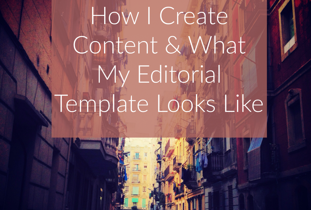 How I Create My Content Strategy & Blog Calendar
